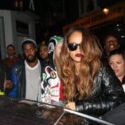 Rihanna and Cara Delevigne at The Box Soho